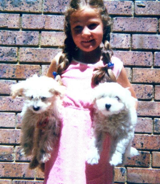 Vic as a little girl