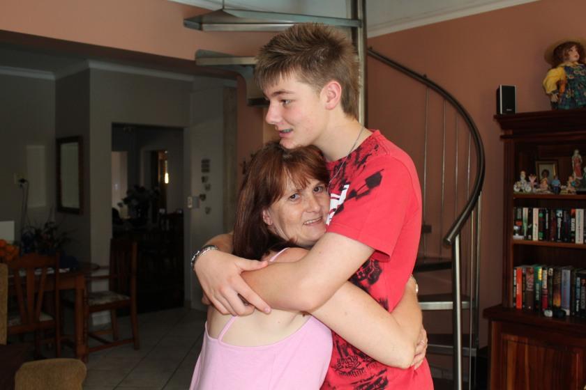Vic and her baby Jon-Daniel..
