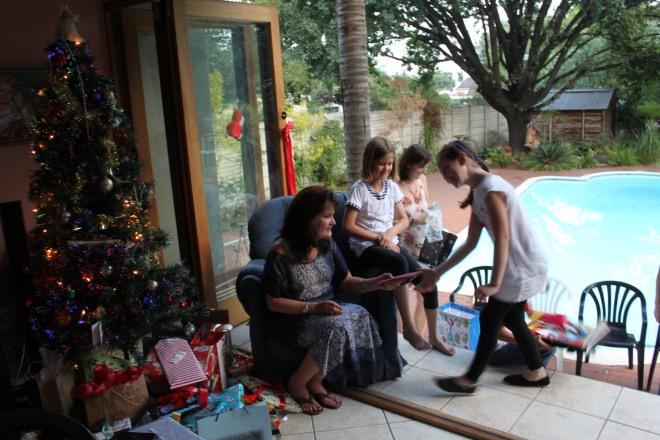 Vic doing the Santa thing