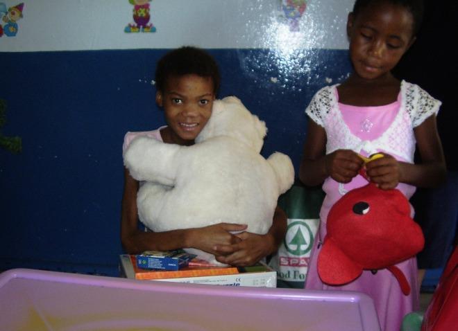 Elizabeth and her Christmas Teddybear