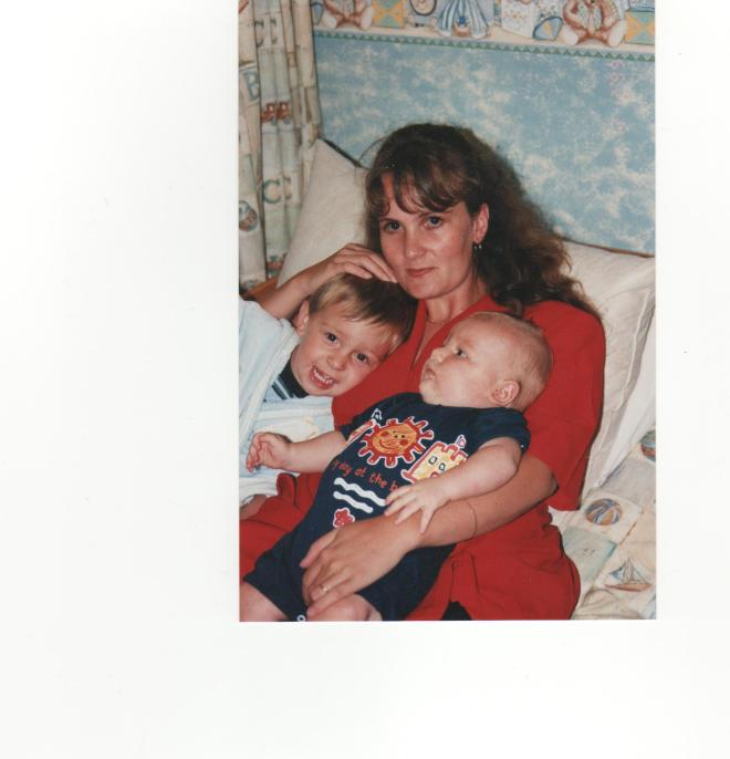 Vic and her boys 1999
