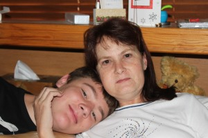 Jon-Daniel and his brave Mommy - January 2013