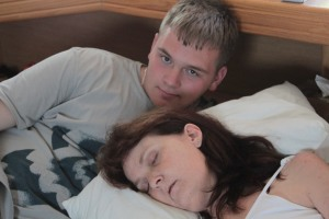 Jared and his Mommy - 10 days before she died