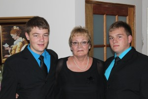 The boys and I before the memorial service