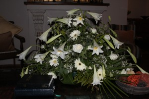Some of Vic's flowers in church