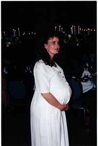 Vic proudly pregnant with Jon-Daniel