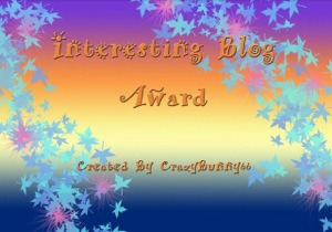 Interesting Blogger award
